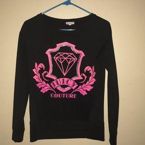 Juicy Couture Women Black & Pink Long sleeve shirt